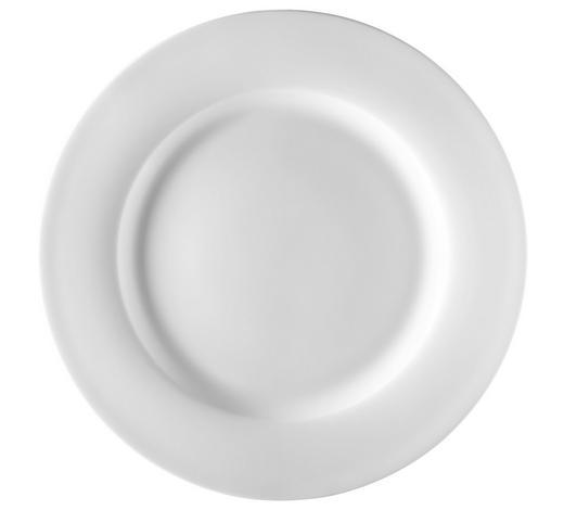 TALÍŘ JÍDELNÍ, kostní porcelán (bone china) - bílá, Design, keramika (27cm) - Novel