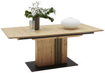 ESSTISCH in Holz, Metall 220/100/75 cm  - Eichefarben/Anthrazit, Design, Holz/Metall (220/100/75cm) - Ambiente