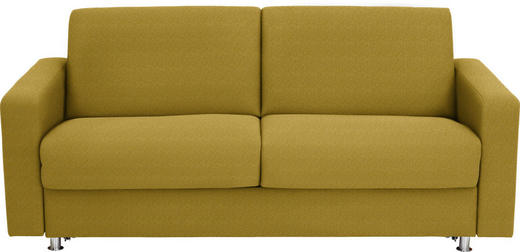 SCHLAFSOFA Flachgewebe Gelb - Chromfarben/Gelb, Design, Textil/Metall (195/84/100cm) - Bali