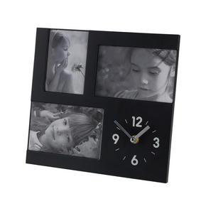 FOTOKLOCKA - silver/svart, Basics, plast (3,8/26/26cm) - Boxxx