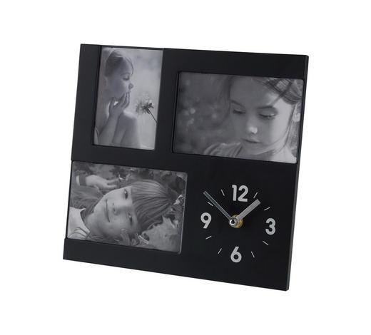 FOTOUHR 3,8/26/26 cm - Silberfarben/Schwarz, Basics, Kunststoff (3,8/26/26cm) - Boxxx