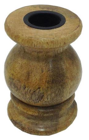 VÄRMELJUSHÅLLARE - brun, Lifestyle, trä (6,6/8,5cm) - Ambia Home