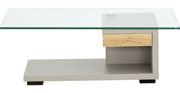 COUCHTISCH in Holz, Glas, Holzwerkstoff 110/65/40 cm  - Fango/Eichefarben, KONVENTIONELL, Glas/Holz (110/65/40cm) - Moderano