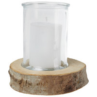 Kerze Im Glas - Klar/Naturfarben, Basics, Glas/Holz - Ambia Home