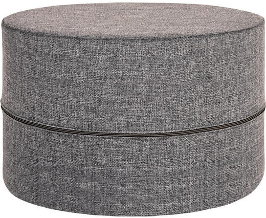 HOCKER Flachgewebe Grau - Grau, Design, Textil (210/68/90cm) - Innovation