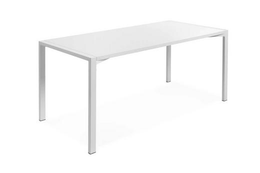 SCHREIBTISCH Weiß - Weiß, KONVENTIONELL, Holz/Metall (160/80/75cm) - Hasena