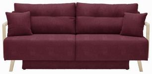 SCHLAFSOFA in Textil Brombeere  - Brombeere/Naturfarben, KONVENTIONELL, Holz/Textil (200/92/95cm) - Venda