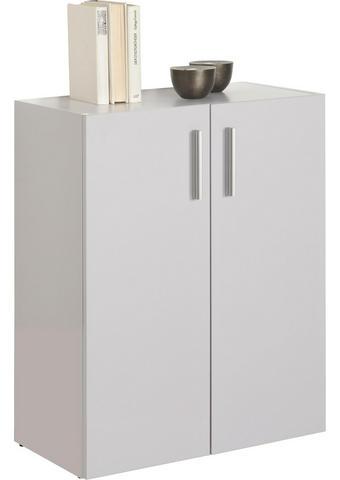 KOMODA - bílá/černá, Design, kompozitní dřevo/umělá hmota (60/76,8/33,6cm) - Carryhome