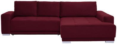 WOHNLANDSCHAFT in Textil Rot  - Silberfarben/Rot, Design, Holz/Textil (293/195cm) - Cantus