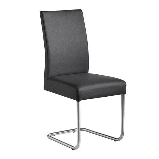 SCHWINGSTUHL Webstoff Anthrazit, Edelstahlfarben - Edelstahlfarben/Anthrazit, Design, Textil/Metall (48/99/69cm) - Valnatura