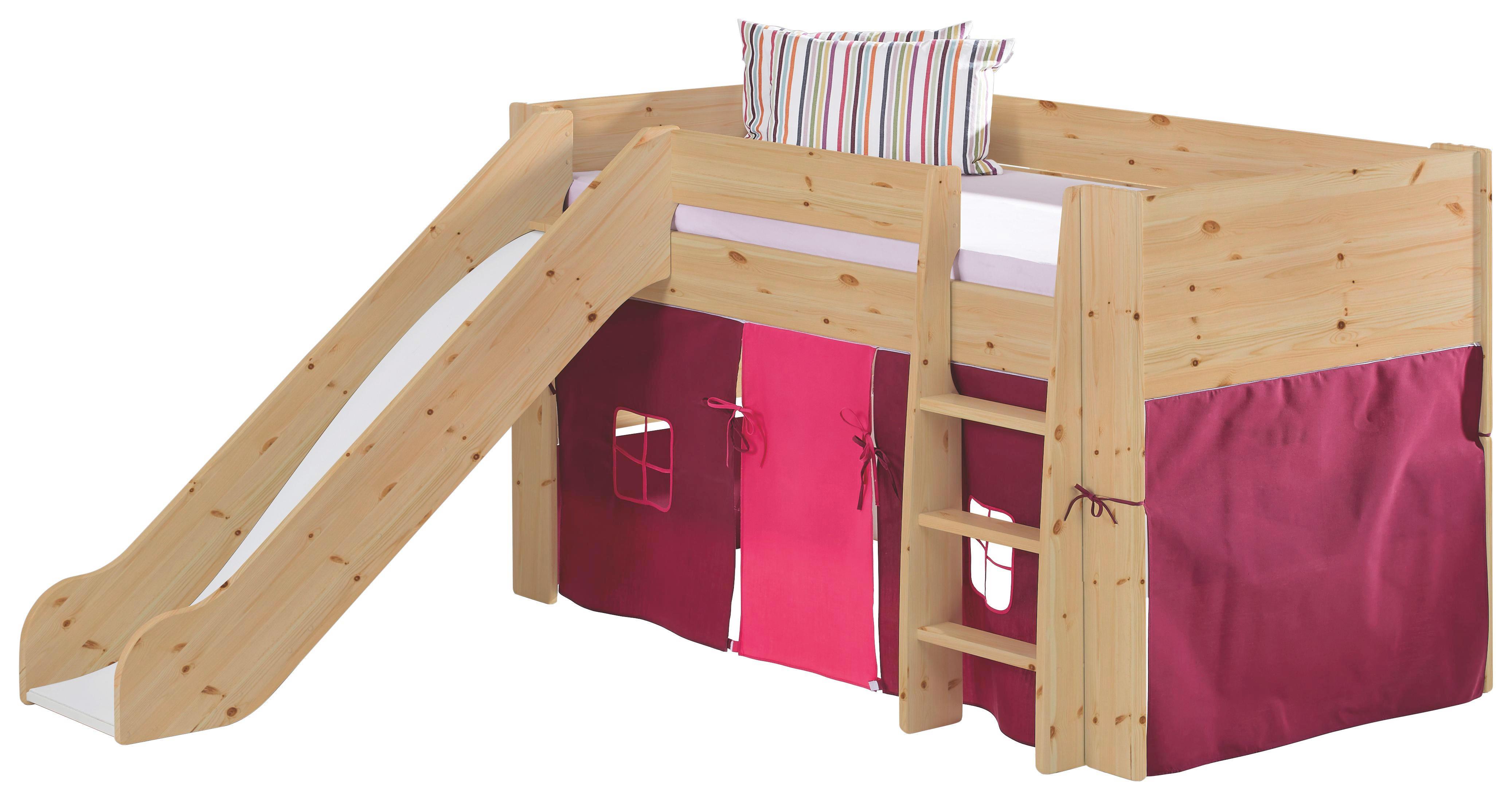 SPIELBETT Kiefer massiv Kieferfarben - Kieferfarben, Design, Holz (206/113/254cm) - CARRYHOME