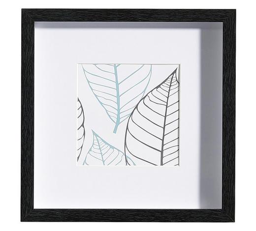 BILDERRAHMEN in Schwarz  - Schwarz, Basics, Glas/Holz (25/25/3cm)