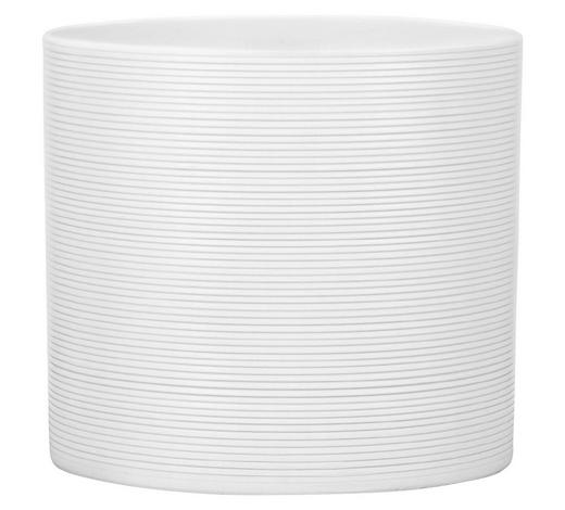 ÜBERTOPF - Weiß, KONVENTIONELL, Keramik (16/16/15cm)