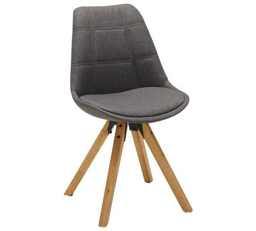 STUHL in Textil Eichefarben, Dunkelgrau - Eichefarben/Dunkelgrau, Design, Holz/Textil (49/87,5/56cm) - Carryhome