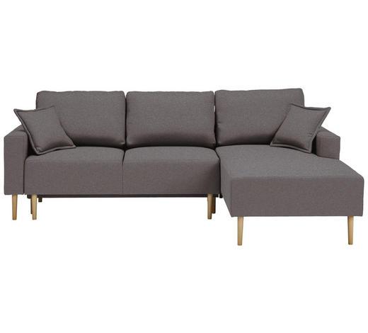 WOHNLANDSCHAFT in Textil Grau - Buchefarben/Grau, Design, Holz/Textil (223/146cm) - Xora