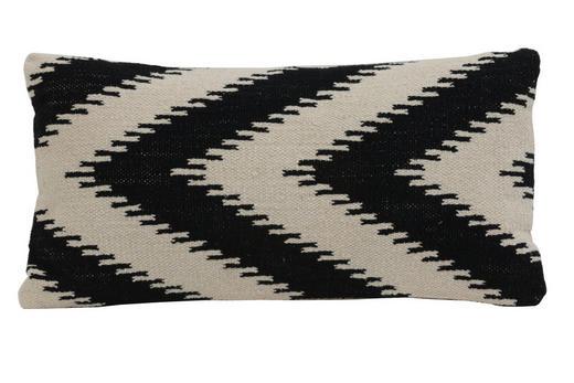 ZIERKISSEN - Schwarz, LIFESTYLE, Textil (60/30cm)