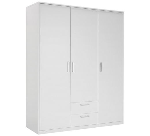 SKŘÍŇ ŠATNÍ, bílá - bílá/barvy stříbra, Konvenční, kov/kompozitní dřevo (157/194/54cm) - Xora