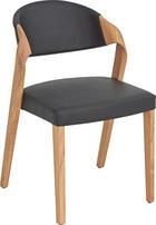 ŽIDLE - barvy dubu/černá, Design, dřevo/kůže (53/82/57cm) - VOGLAUER