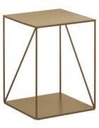 BEISTELLTISCH Goldfarben  - Goldfarben, Trend, Metall (38/50/38cm) - Carryhome