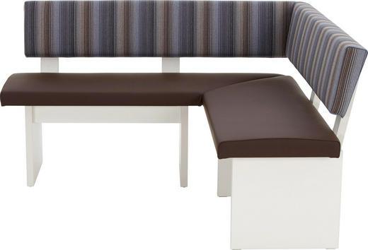 ECKBANK 150/150/ cm  in Braun, Magnolie - Dunkelbraun/Magnolie, Design, Holzwerkstoff/Textil (150/150/cm)