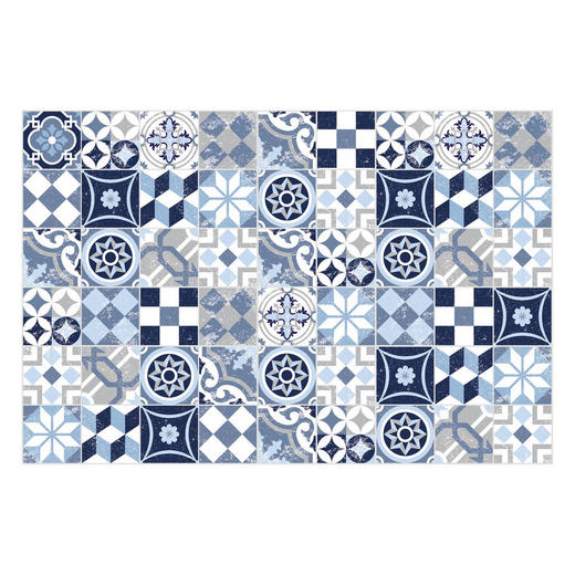 LÄUFER  60/90 cm  Blau, Weiß - Blau/Weiß, Basics, Kunststoff (60/90cm)