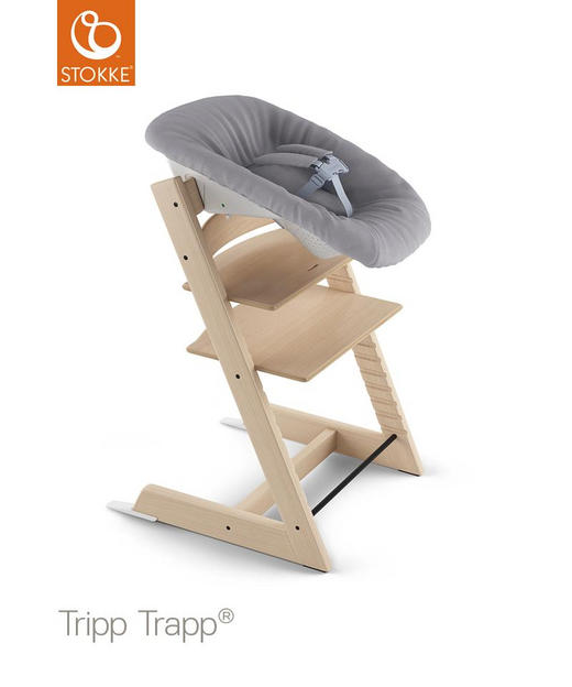 HOCHSTUHL-BABYSCHALE Tripp Trapp - Weiß/Grau, LIFESTYLE, Kunststoff/Textil (59/15/27cm) - Stokke