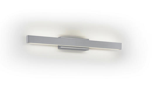 LED-WANDLEUCHTE - Nickelfarben, Design, Metall (52cm)