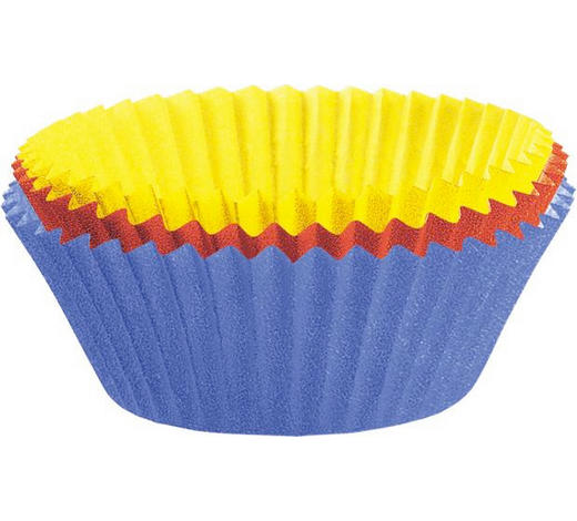 Papierförmchen 150 Stück - Blau/Gelb, LIFESTYLE, Papier (7cm) - Kaiser