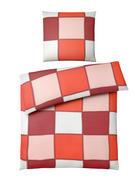 BETTWÄSCHE Makosatin Rot, Beige 135/200 cm - Beige/Rot, Basics, Textil (135/200cm) - Novel