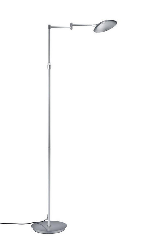 LED-STEHLEUCHTE - Nickelfarben, Design, Kunststoff/Metall (150cm)