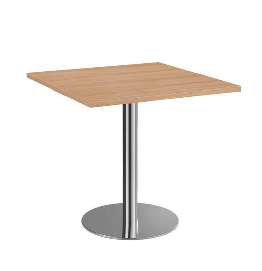 KONFERENZTISCH - Chromfarben/Nussbaumfarben, KONVENTIONELL, Holzwerkstoff/Metall (80/75,5/80cm)