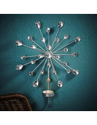 Kerzenhalter 4-er Set  - Silberfarben, Kunststoff/Metall (23,5/30,5/5,5cm) - X-Mas