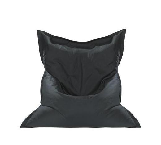 SITZSACK in Textil Schwarz  - Schwarz, Design, Textil (180/14/140cm) - Boxxx