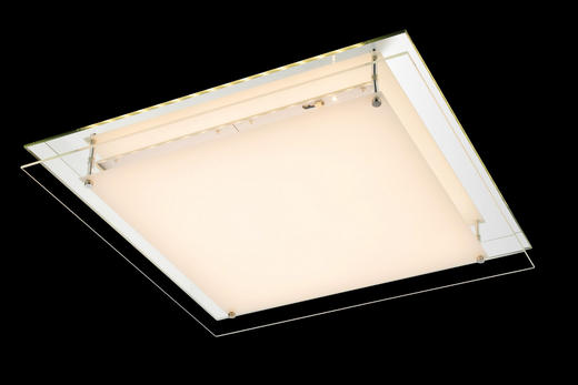 LED-DECKENLEUCHTE - KONVENTIONELL, Glas/Metall (50/50/7,5cm)