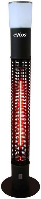 TERRASSENSTRAHLER ZHQ1588-RDM - Schwarz, KONVENTIONELL, Metall (110cm)