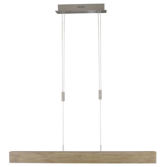 LED-HÄNGELEUCHTE - Braun, LIFESTYLE, Holz/Kunststoff (98/80-150cm)