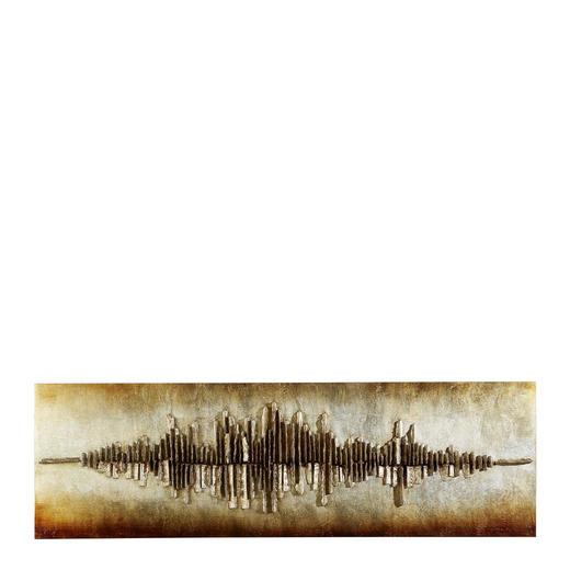 OBRAZ - barvy stříbra/černá, Design, dřevo (55/180cm) - MONEE