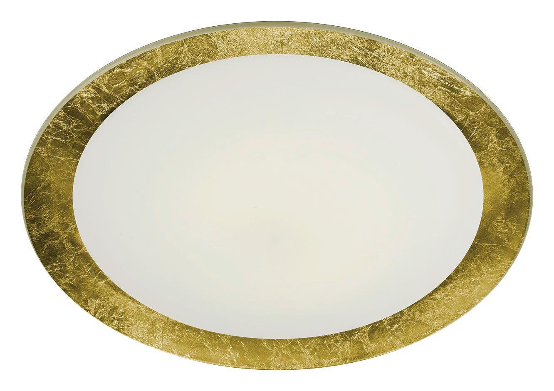 LED-DECKENLEUCHTE - Goldfarben, Design, Glas/Metall (50cm)