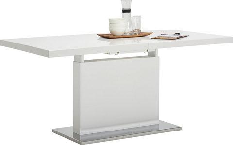 TRPEZARIJSKI STO - Boje hroma/Bela, Dizajnerski, Metal/Pločasti materijal (160-200/90/76cm) - Carryhome