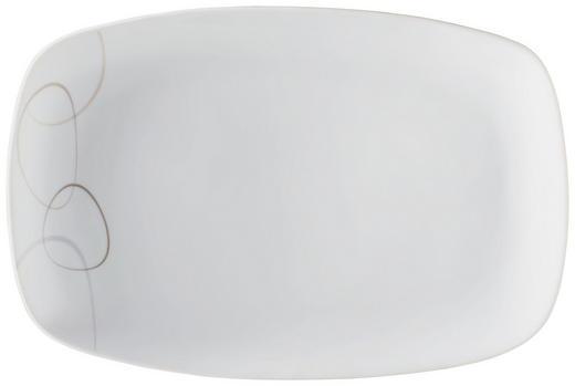 SERVIERPLATTE - Braun/Weiß, Basics (31/20/3cm) - RITZENHOFF BREKER