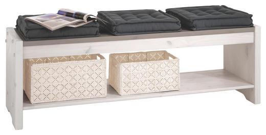 SITZBANK Kiefer massiv Grau, Weiß - Weiß/Grau, Design, Holz (140/48/40cm) - CARRYHOME