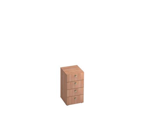 ANSTELLCONTAINER - Nussbaumfarben/Alufarben, KONVENTIONELL, Holzwerkstoff/Metall (40/74.8/42cm)