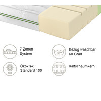 KALTSCHAUMMATRATZE ROAD 270 COMFEEL PLUS 90/200 cm 22 cm - Weiß, Basics, Textil (90/200cm) - Schlaraffia