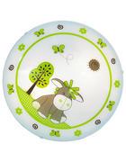 DĚTSKÉ STROPNÍ SVÍTIDLO - bílá/zelená, Basics, kov/sklo (39,5cm) - My Baby Lou