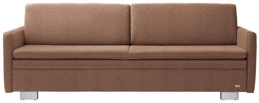 SCHLAFSOFA in Textil Hellbraun - Hellbraun, KONVENTIONELL, Textil/Metall (216/84/92cm) - Sedda