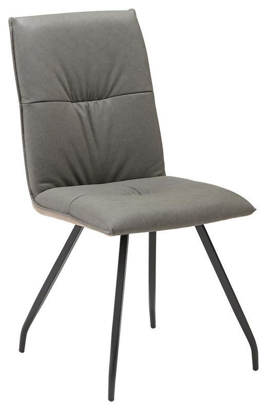 STUHL in Textil Braun, Grau - Schwarz/Braun, Design, Textil/Metall (46/89,50/61cm) - Carryhome