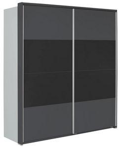 ORMAR - VISEĆA KLIZNA VRATA - Boja aluminijuma/Antracit, Dizajnerski, Drvo/Metal (179/198/64cm) - Xora