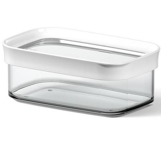 VORRATSDOSE  0,45 l - Transparent/Weiß, KONVENTIONELL, Kunststoff (0.45l) - Emsa