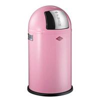 wesco abfallsammler pushboy junior 22 l edelstahlfarben rosa basics kunststoff metall