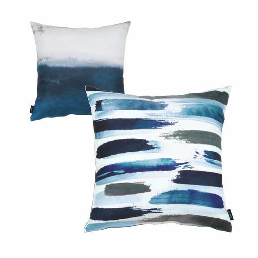 KISSENHÜLLE Blau - Blau, Textil (45/45cm)